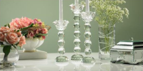Mother's Day Gift Ideas -- Crystal Candlesticks