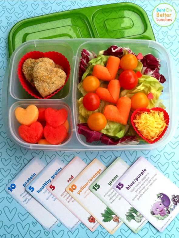 healthy lunch ideas Bent on Better Lunches Crunch a Color