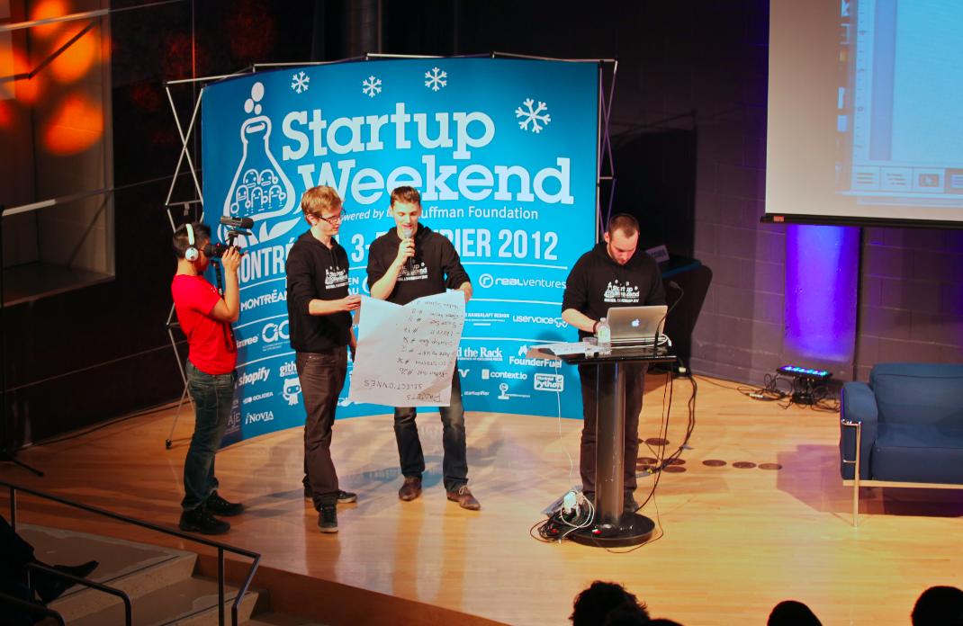 De jeunes Montréalais collaborent pour Montréal Startup Weekend