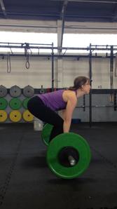 Jennifer Hudy lifting weights