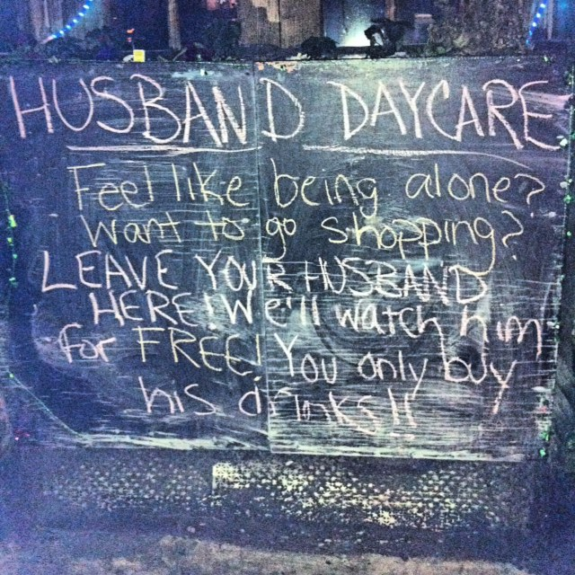husband daycare sign spotted in new york city photo huffpost life