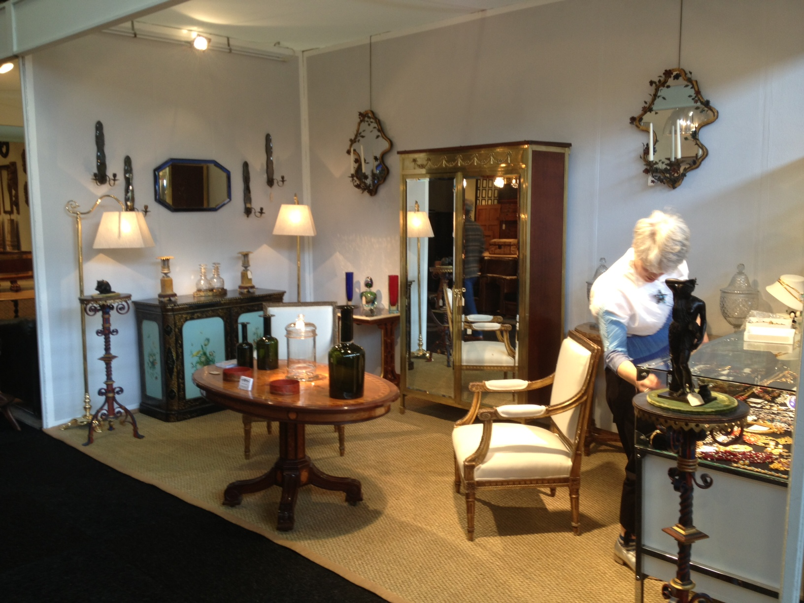 a stand at the decorative fair Battersea Park
