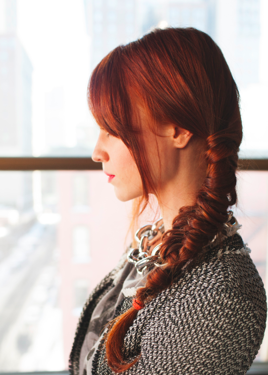 French Braids with Red Hair