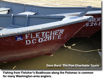 a photo of several boats at Fletcher's dock on the Potomac