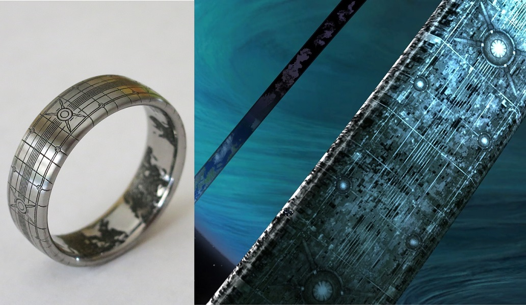 video game wedding rings halo wedding ring superfan designs halo themed band 8266