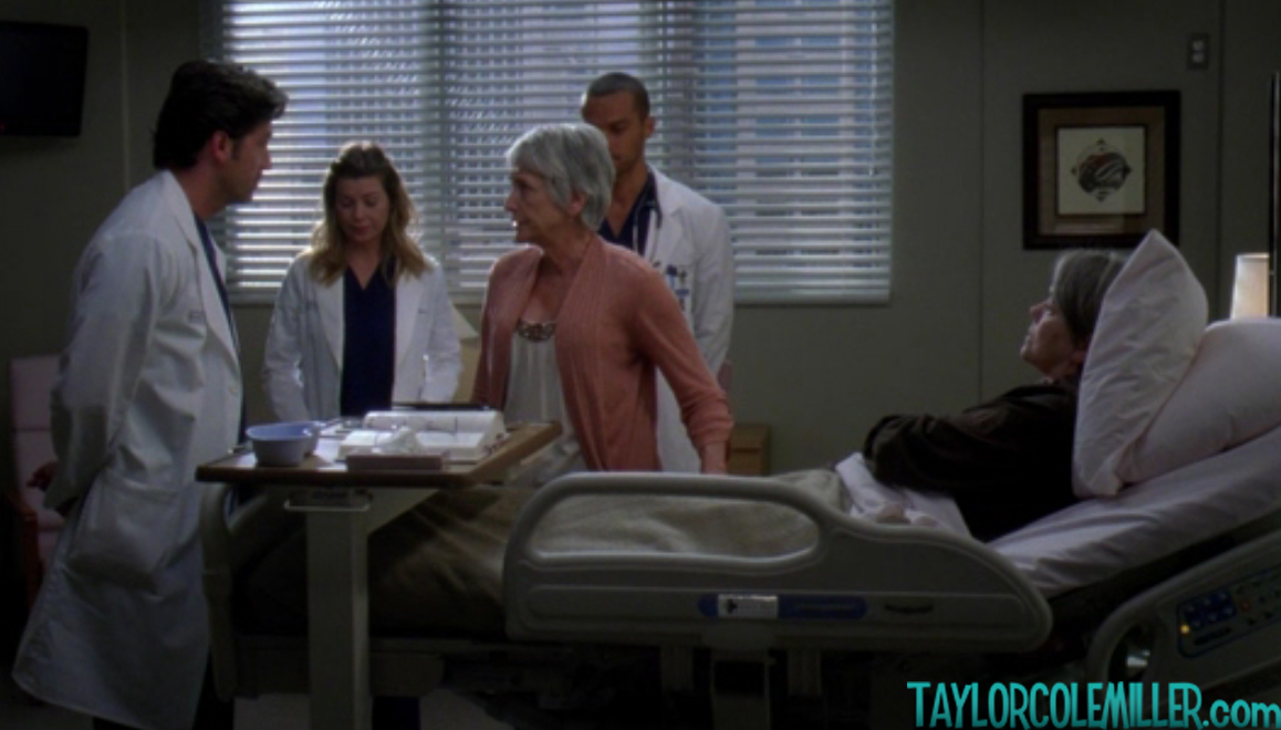 Heller returned to TV in another lesbian role in Grey's Anatomy