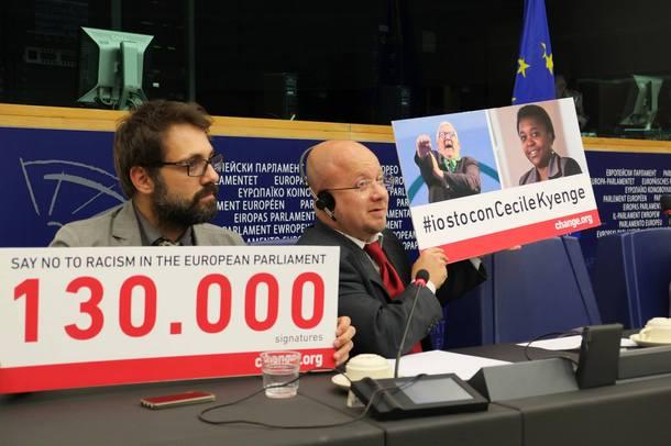 Con Stefano Corradino al Parlamento di Strasburgo