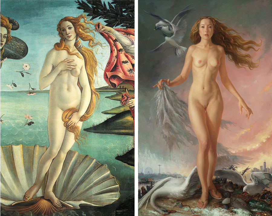 More Renaissance painting three women nude