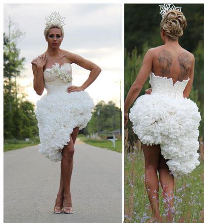 Toilet Paper Wedding Dress Contest Winners Revealed Photos