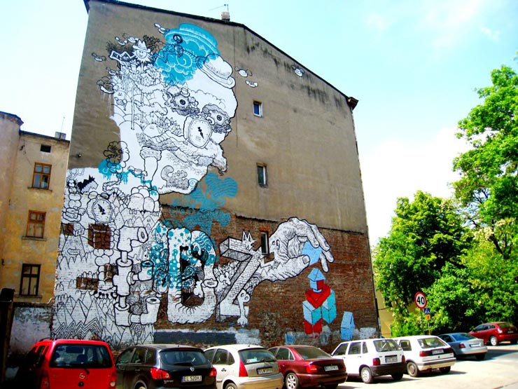 Huge Street Art Murals Transform City Of Lodz In Poland