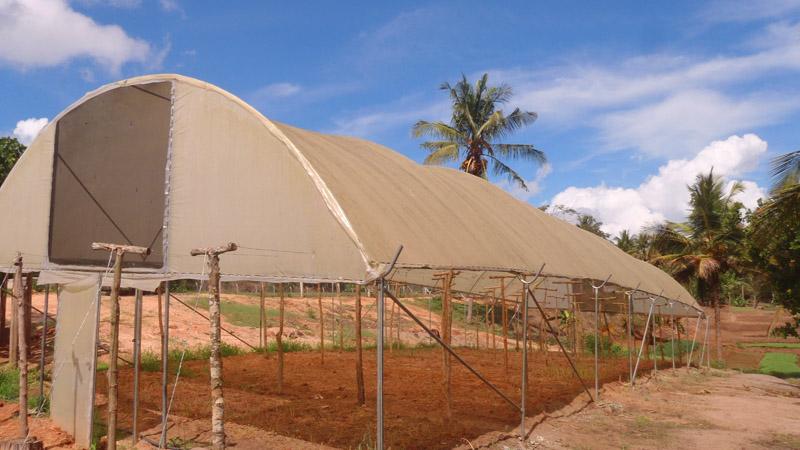 Derelict USAID greenhouse at Mlandizi Tanzania
