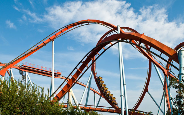 Dragon Khan roller-coaster in PortAventura