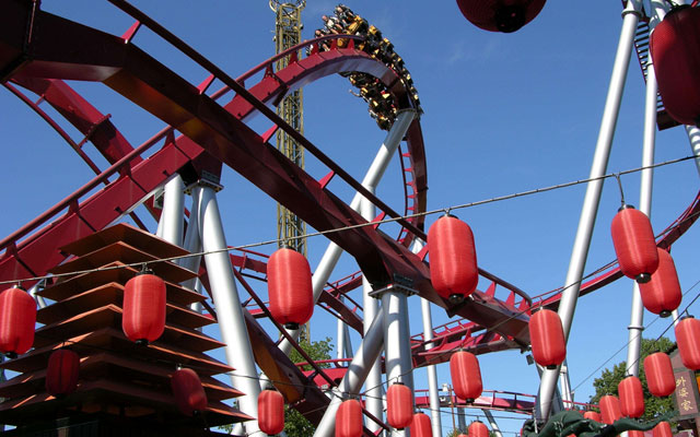 Tivoli Demon roller-coaster