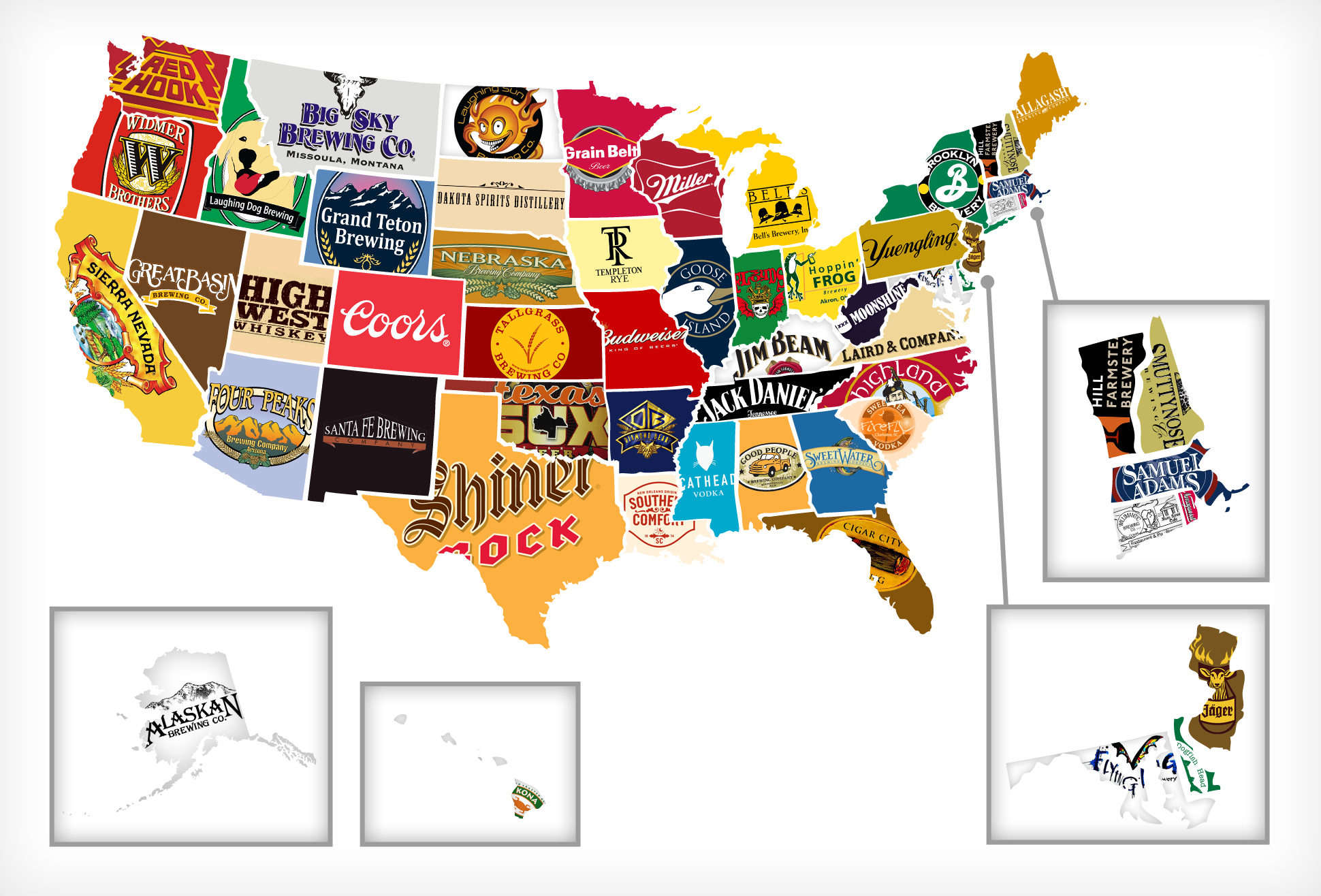 Red white and booze mapping all 50 states 39 most iconic for American regional cuisine history