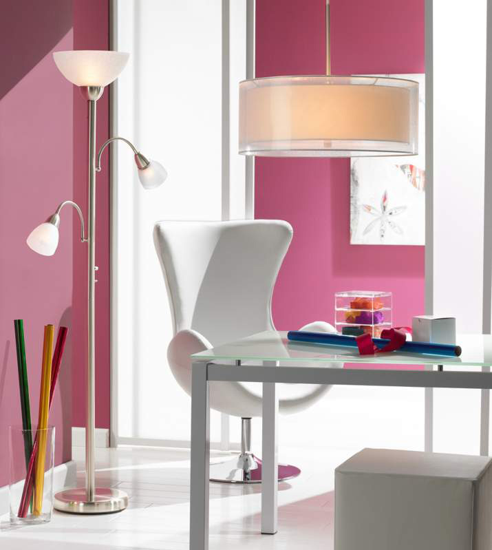 Small Space Solutions -- Light Up a Dark Corner with a Floor Lamp or Adjustable Desk Lamp