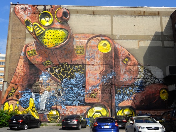 See highlights from montreal 39 s street art extravaganza for Art mural montreal