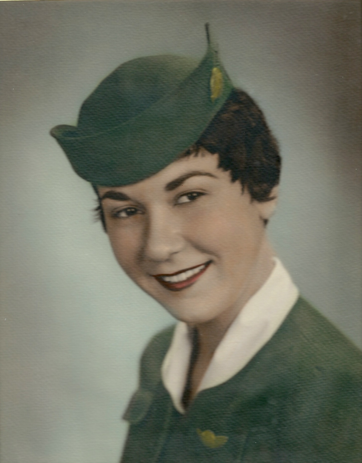 Flight Attendant MargueriteMcCausland of Capital Airlines in 1957