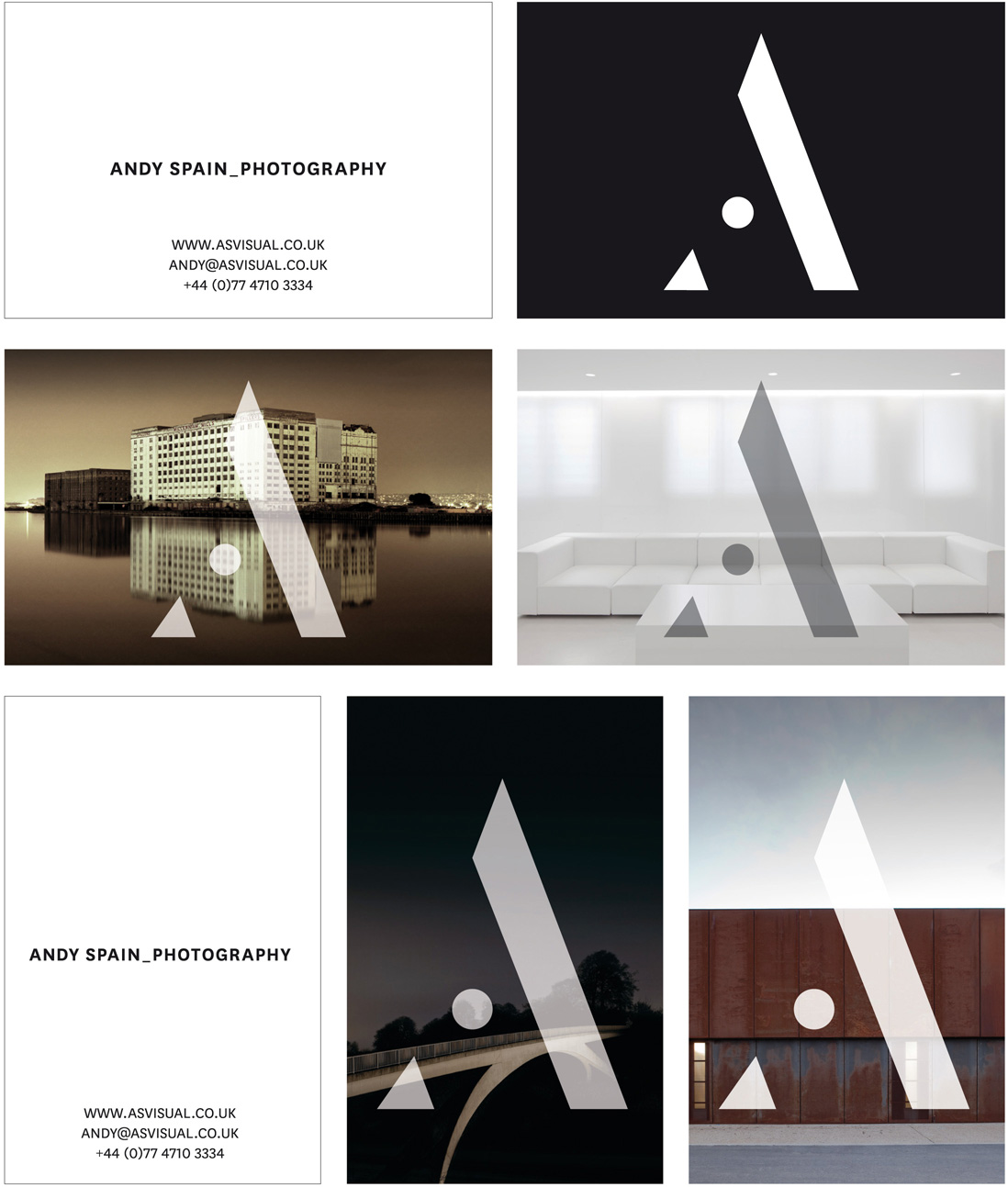 New identity design for architectural photographer andy spain 2013 07 31 pressreleasenewidentitydesignforarchitecturalphotographer2smallg selection of business cards reheart Image collections