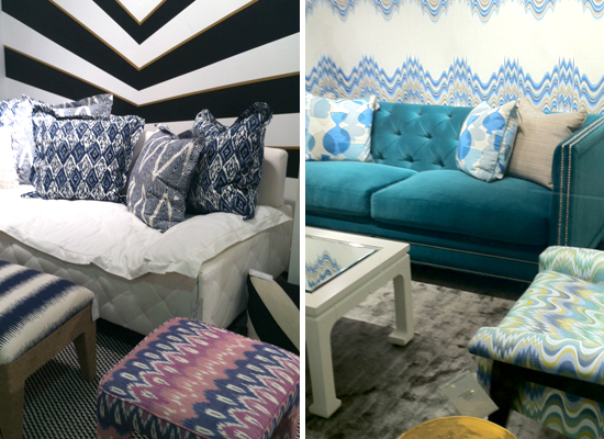2013 Design Trends at Las Vegas Market --  Pattern Mixing