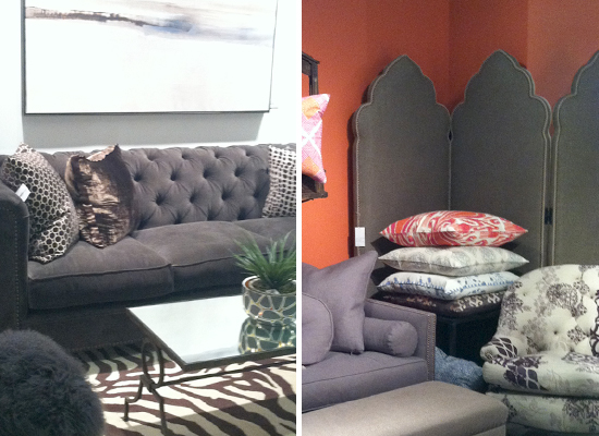 2013 Design Trends at Las Vegas Market - Diamond Tufting and Nailheads