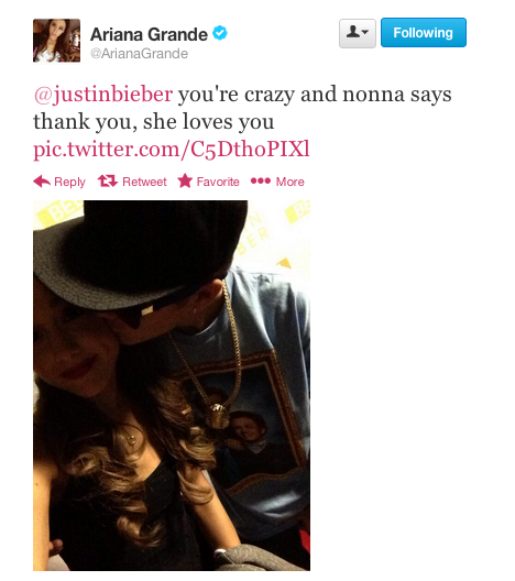Justin Bieber Ariana Grande Tweet Ariana Grande And Justin