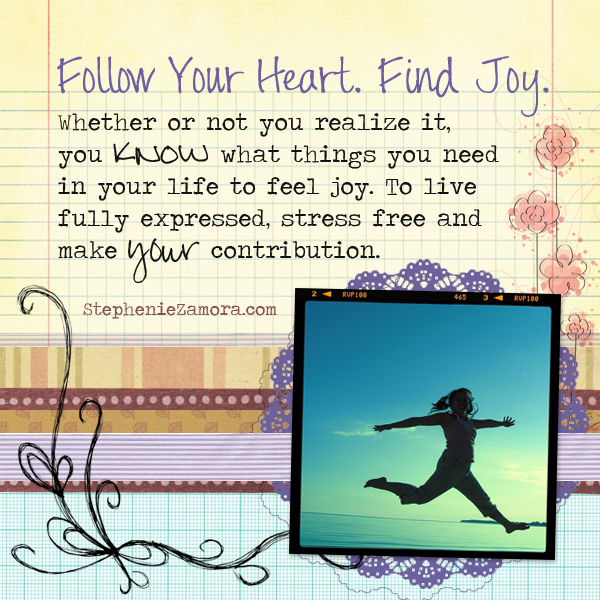 Three things you must do feel joyful