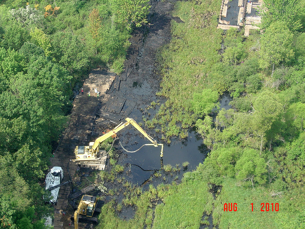 An Enbridge pipeline ruptured in July 2010 and the cleanup is still going on today
