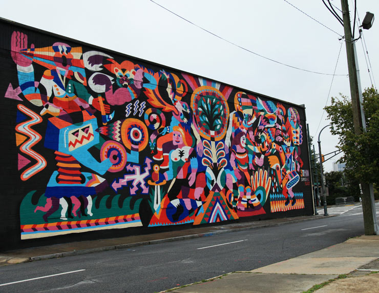 20 new murals from atlanta living walls 2013 huffpost for Atlanta mural artist