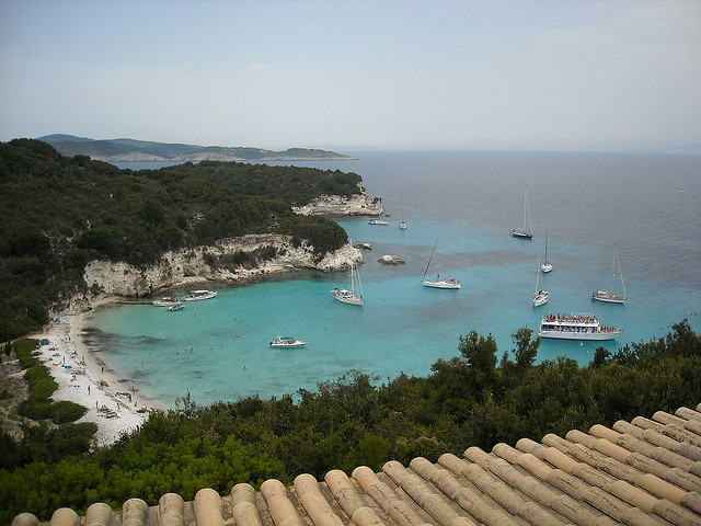 Voutoumi Beach from Bella Vista Taverna