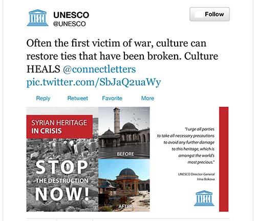 2013-09-02-ScreenshotofUNESCOtweetonSyrianheritagesitesasvictimsofwar.jpg