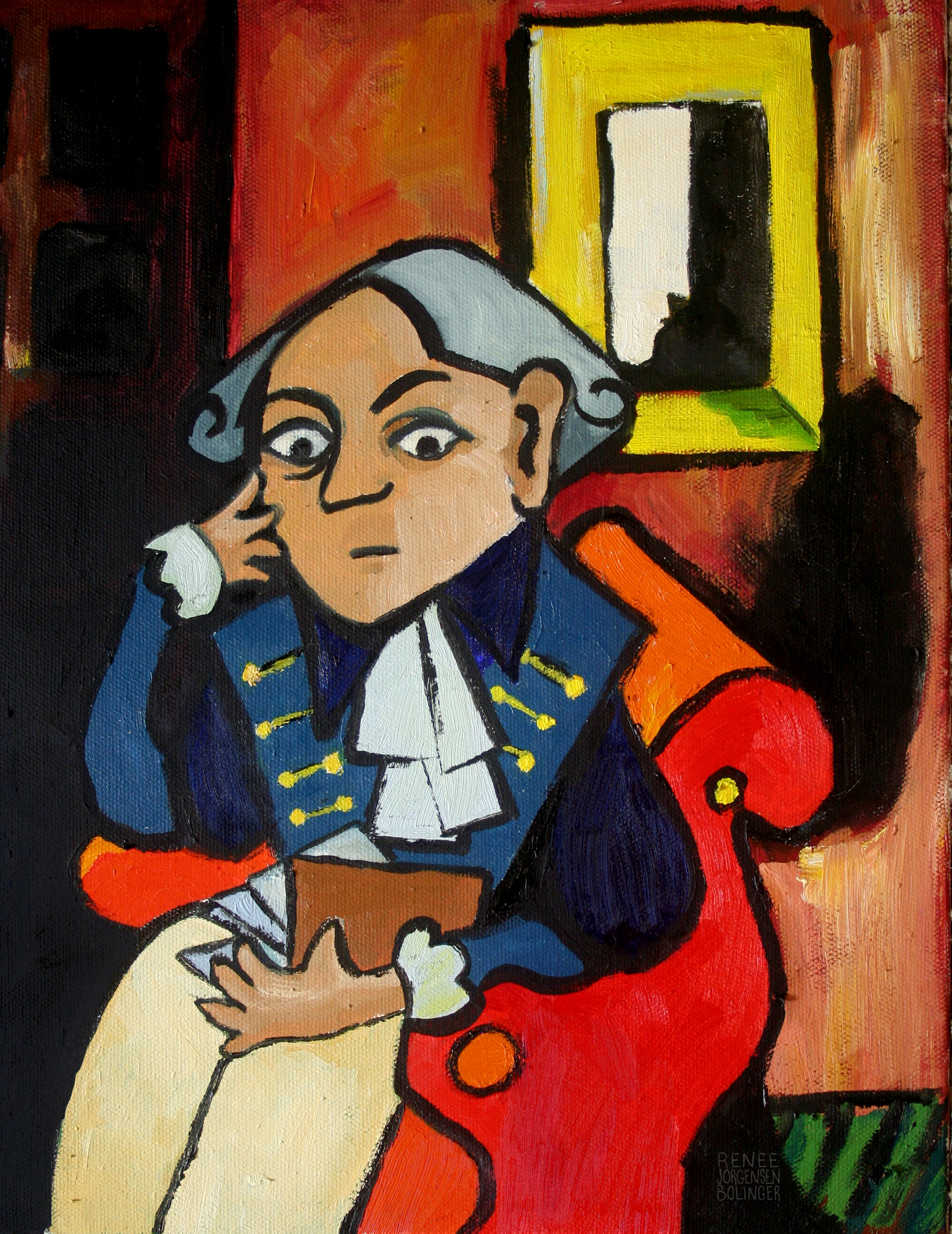 Immanuel Kant in style of Pablo Picasso