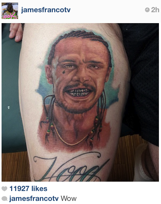 James Franco Tattoo Added to List of Worst Portrait ...