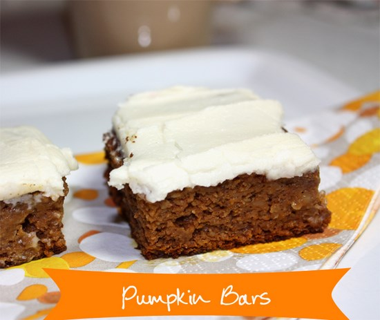 Coconut Flour Pumpkin Bars: RECIPE: Healthy Gluten-Free Pumpkin Bars