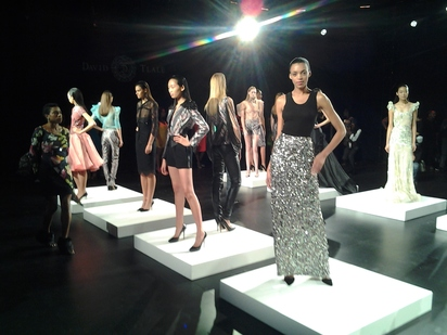 South African designer David Tlale's NYFW presentation