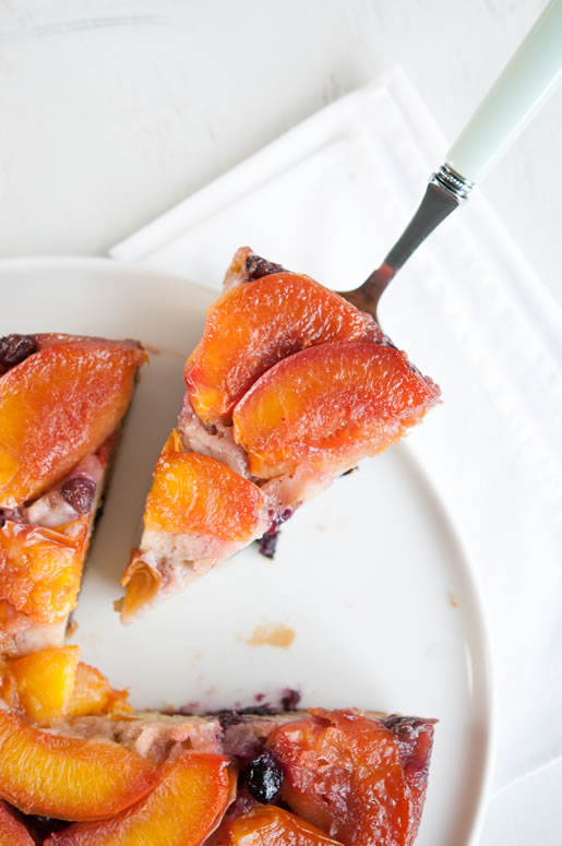 Blueberry Nectarine Cake