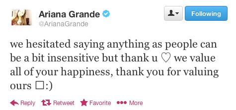 Ariana Grande og Nathan Sykes dating Twitter Truro Nova Scotia dating nettsteder