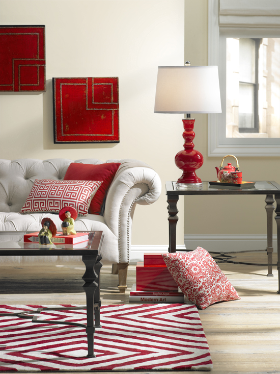 Colorful Living Room Decorating In Red Part 54