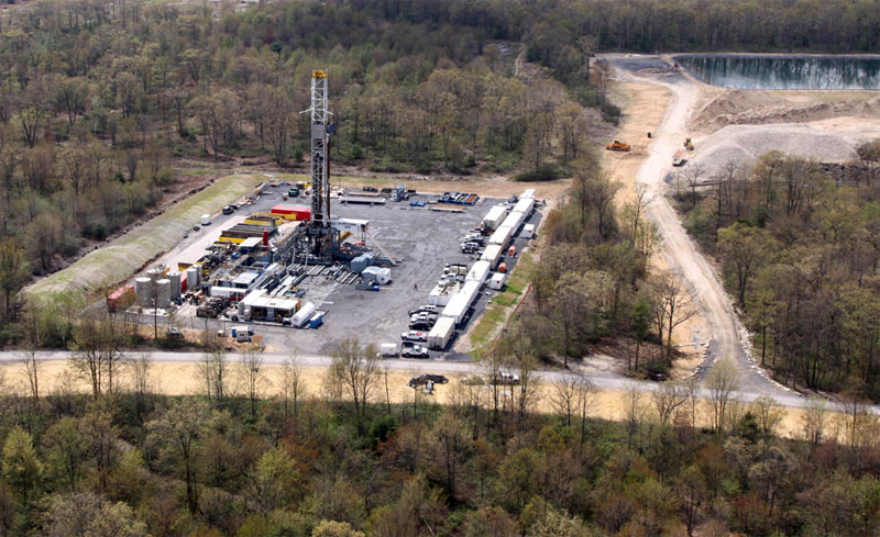natural gas drilling ops with tracking