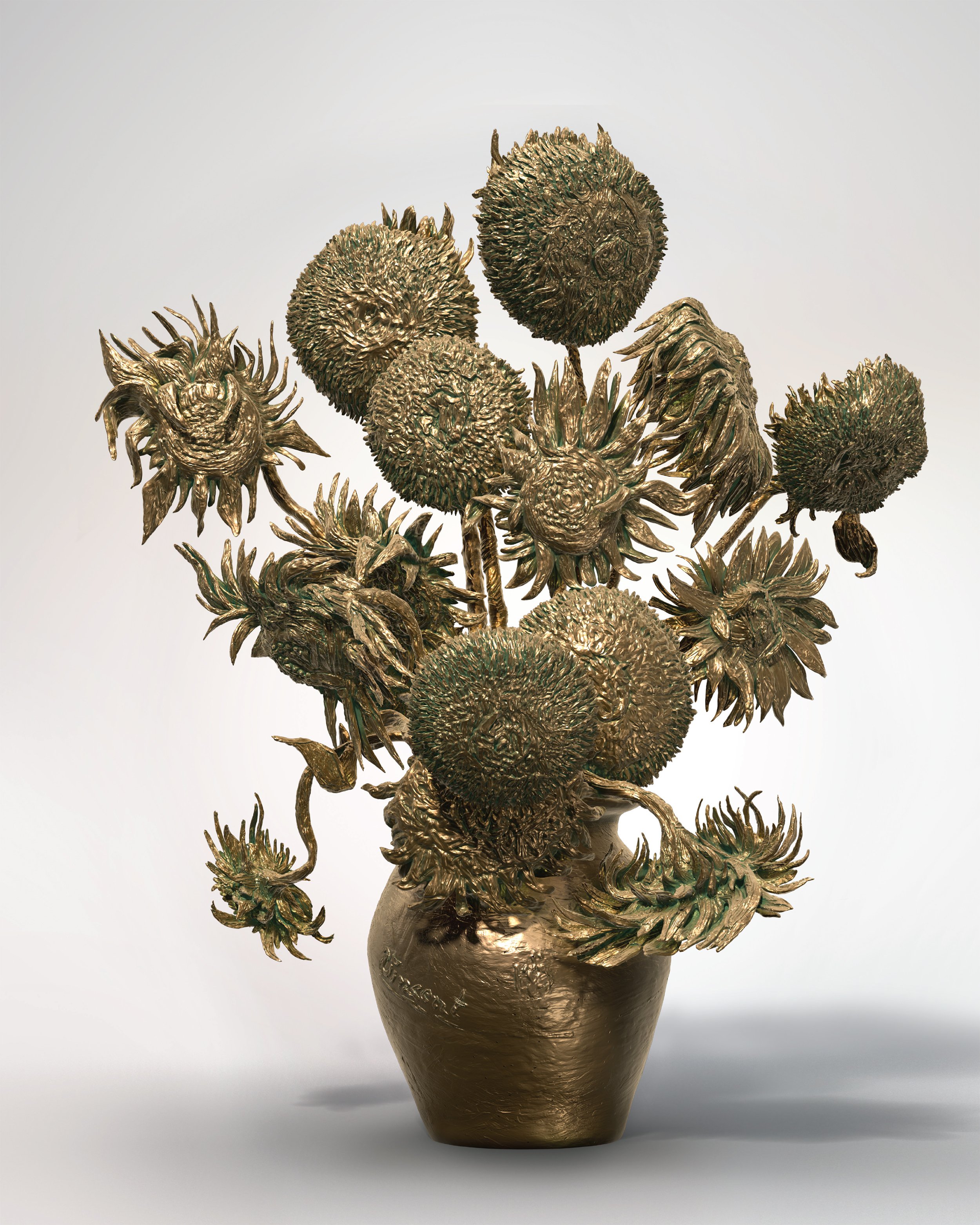 Behold a 3d printed sculpture of van gogh 39 s 39 sunflowers for 3d sculpture artists