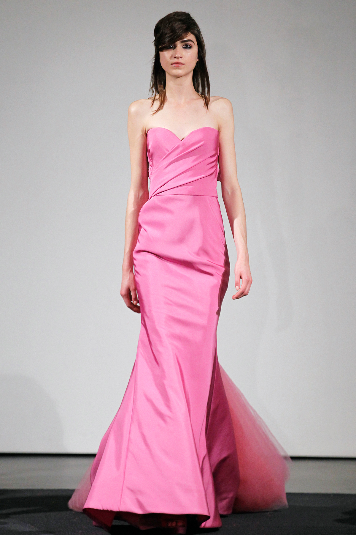 Vera ellen white christmas pink dress vera wang s fall 2014 bridal