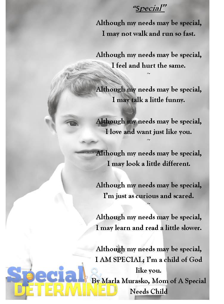 Special:' A Poem Written By a Mom For Her Special Needs Son