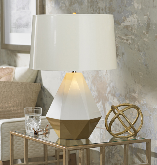 Fall Home Decor Trend Geometric Patterns On Table Lamps By Robert Abbey Inc And Lamps