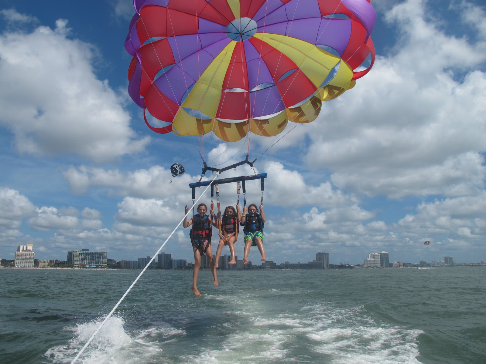 Life S A Beach In Myrtle Huffpost Ocean Watersports Parasailing