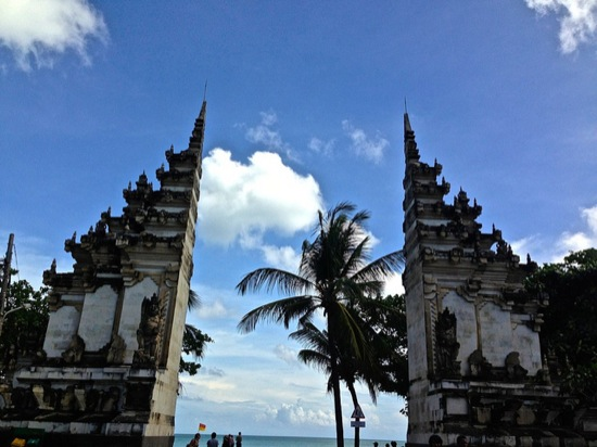 Entrance to Kuta Beach, Bali