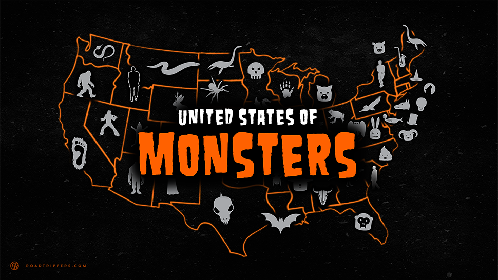 This united states of monsters infographic notes the monster that