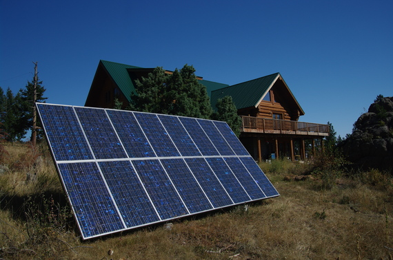 Battery backup solar and wind installation
