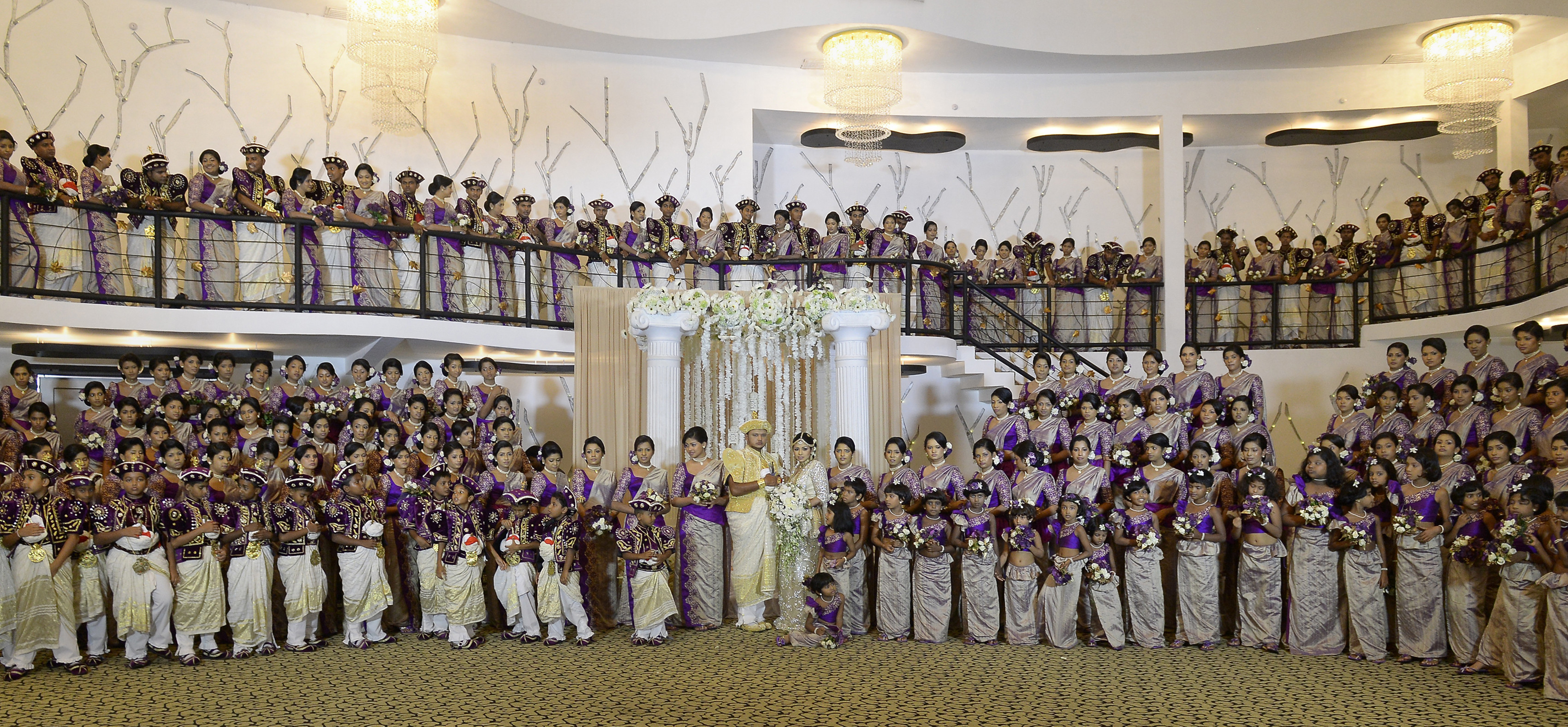 Couple Sets World Record With 126 Bridesmaids In Wedding