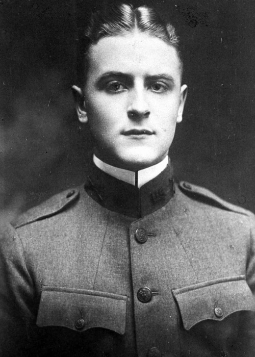 Fitzgerald in uniform  F Scott Fitzgerald Young