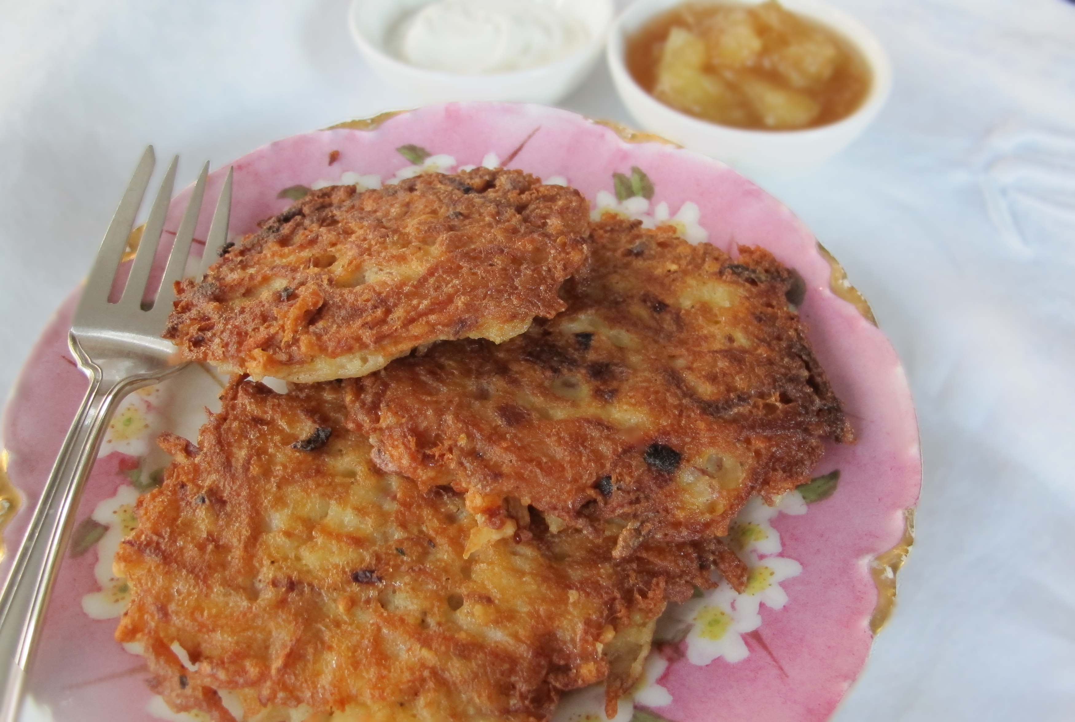 "Traditional"" Eastern European latkes use potatoes as their base, with ..."
