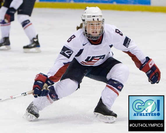 Interview With :   Caitlin Cahow, Former Olympic Women's Ice Hockey player